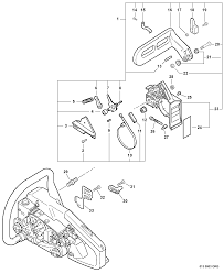 chainsaw chain parts. echo cs-306 chain saw brake parts diagram serial number c09413001001 - c09413999999 chainsaw