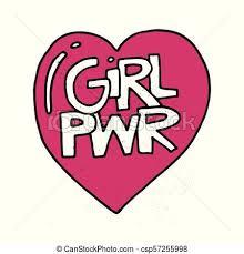 Girl Power Illustration Girl Power Vector Motivational Slogan