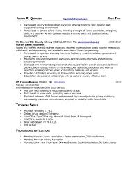 Library Resume Resume For Study