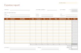 Expense Statement Template Expense Report