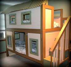bunk bed with slide and desk. Treehouse Bunk Bed With Slide Interior Loft Pottery Barn Desk Full Plans And A