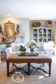 spring coffee table vignette
