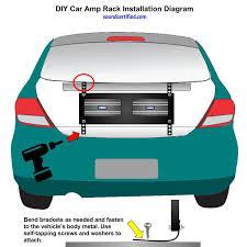 diy car amp rack installation diagram