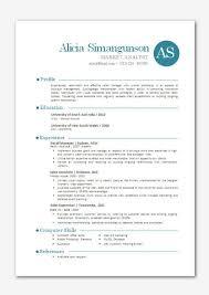 Free Contemporary Resume Templates Modern Microsoft Word Resume