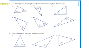 Worksheets. Finding Missing Angles In Triangles Worksheet ...