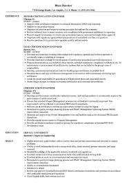 Certifications On Resume Certification Engineer Resume Samples Velvet Jobs 37