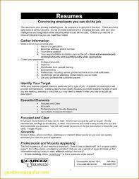 Good Things To Put On A Resume New Good Things To Put A Resume