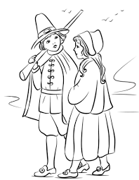 Pilgrim Children Coloring Page Free Printable Coloring Pages