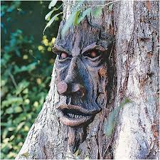 tree face sculpture art decor yard garden plaque outdoor forest enchanted new