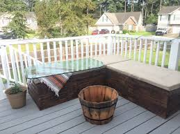 outdoor deck furniture ideas pallet home. DIY Outdoor Furniture Pallet Sectional Couch Sofa Outside Deck Guest Company People Hosting Events Do It Ideas Home R