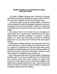 argumentative essay tv influence dissertation literature review  argumentative essay is television a bad influence on children