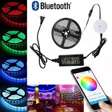 iphone controlled lighting. Amazon.com : Topled Light16.4ft/5M Multi Color RGB Bluetooth Smartphone App Controlled Strip Light Kit, Works With IPhone, Android, Amazon Fire Phone Iphone Lighting F