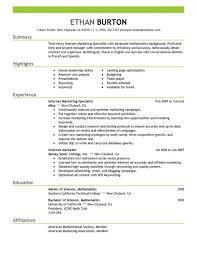marvelous sample resume objectives for marketing job sample resume online marketing resume sample
