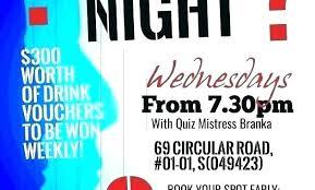 Trivia Night Flyer Template Templates Free Quiz Strand Dna