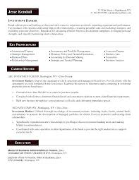 Investment Banker Resume Classy Example Of Personal Resume Investment Banking Cover Letters Banking