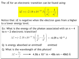 the rydberg equation used to calculate the wavelength of a photon emitted or absorbed by