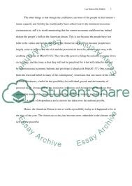 the american dream essay example topics and well written essays  the american dream essay example
