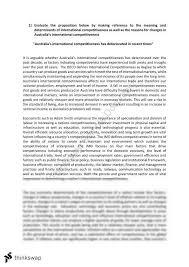 Australia Essay Economics Essay On Australias International Competitiveness