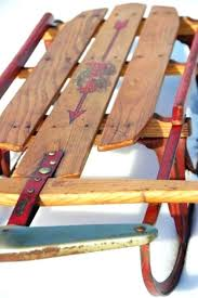 vintage wooden sled vintage flexible flyer snow sled the kind of sleds we used as fun