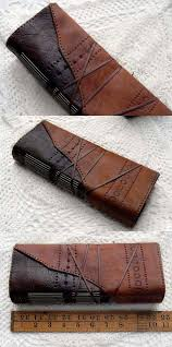 the explorer large rustic brown leather journal two toned embossed tea stained pages ooak bookbinding ideasleather bookstea