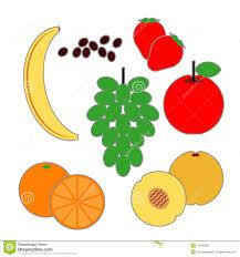 Food Pyramid Fruit Food Items Stock Vector Illustration Of
