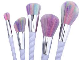 rainbow makeup brushes. new, high quality, professional unicorn make up brushes 5pcs makeup set rainbow hair s