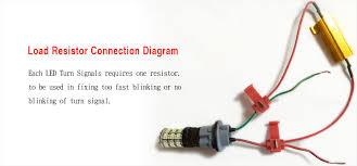 led load resistor wiring diagram led image wiring 4x 50w 6rj led new load resistors for fast hyper flash turn signal on led load