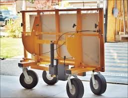 installing a heavy countertop with the no lift install cart is as easy as roll it