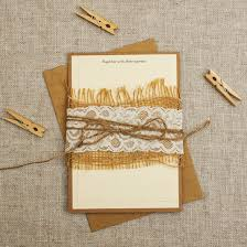 Burlap And Lace Wedding Invitations Kraft Cream Rustic Wedding Invitations Be My Guest