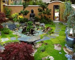 made from stone ceramics or metal the eastern statues in the garden carry particular asian spirit into the design