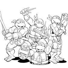 Small Picture Nickelodeon Ninja Turtles Coloring Pages Desenhos para pintar