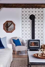Tiled Hearth Designs For Wood Stoves Sarah Richardsons Off The Grid Family Home Wood Stove