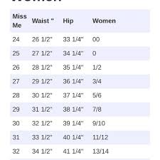 Womens Jeans Size Chart Miss Me Jeans Size Chart Conversion Miss Me Jeans Size
