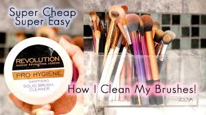 how i clean my brushes and easy way to clean makeup brushes