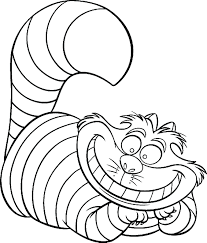 Cheshire Cat Coloring Page Home And Pages | lyss.me
