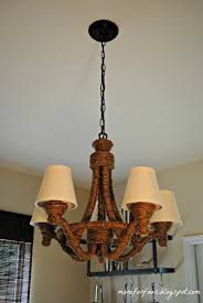 rope chandelier pottery barn and more for four diy with 1071x1600px