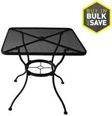 davenport 30 in 4 seat square black steel mesh bistro patio dining table new