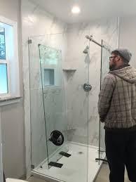 installing customer supplied shower enclosures