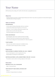 Server Experience Resume Examples Resume Server Resume Objective Floating Restaurant Skills