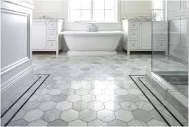 Flooring  Gray Penny Rounds On Bathroom Floor And Shower X - Non slip vinyl flooring for bathrooms
