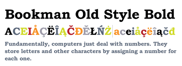 bookman old style pro bold