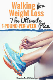 Lose Weight Walking Chart Walking For Weight Loss How To Lose 1 Pound Per Week