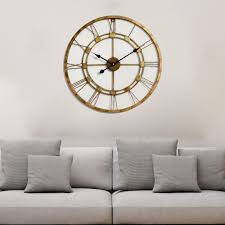 Metal Wall Decorations For Living Room Finish Pure Copper Large Handmade Wall Clock Metal Wall Art