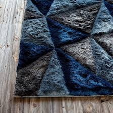 blue and grey area rug