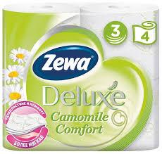 Купить товар Туалетная бумага Zewa Deluxe Ромашка ...