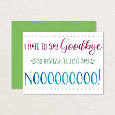 Free Farewell Card Template Delectable Printable Goodbye Card Funny Goodbye Card Printable Etsy