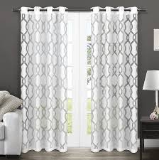 com exclusive home curtains rio burnout sheer grommet top window curtain panel pair winter white 54x96 home kitchen