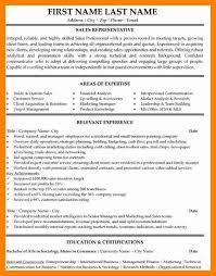 10+ Sales Representative Resume Sample | Sap Appeal