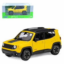 dels about welly 1 24 jeep renegade cast metal model car toy new in box yellow