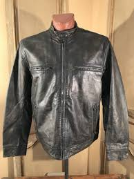 lucky brand mens motorcycle bonneville cafe racer leather jacket size xl